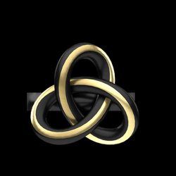 Knot Ring - Black and Gold