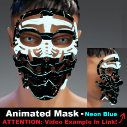 Animated Mask: Neon Blue - Male Avatars