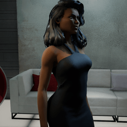 Stylish Black Leateher Dress