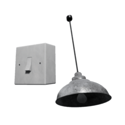 Metal roof Lamp w/switch [BUNDLE]