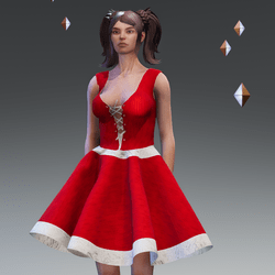 Christmas dress by ACpixl