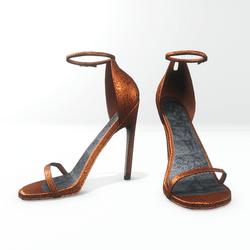 Ankle strap sandals for Nicci - glitter orange