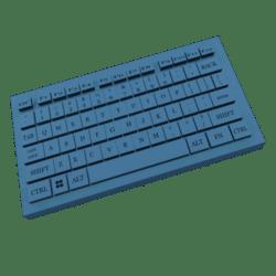 PC KEYBOARD BLUE