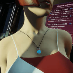 HoverDerby - Blue atom necklace (female)