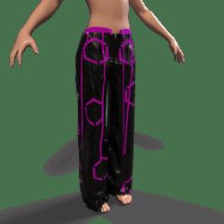 Raver Pants Female - Purple