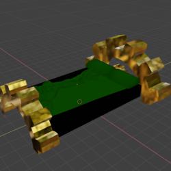 Steampunk Cog Bed