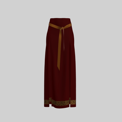 Skirt Briana Deep Red & Gold 2.0