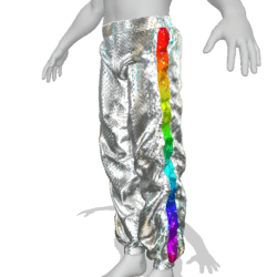 Pants with glow and animation