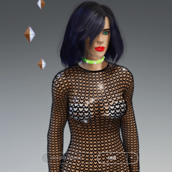 Female - Black Hearts Full-Body Net-Suit