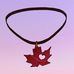 Leaf Choker Red