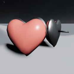 Coral Heart Earrings F