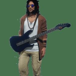 Bad Draxtor Blue Guitar