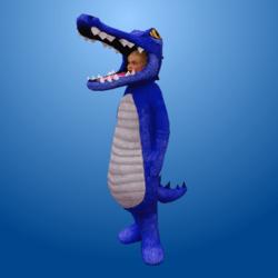 Croc Costume Blue (Female)