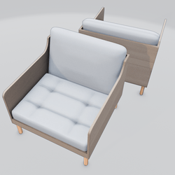 Chronicle Lounge Chair White