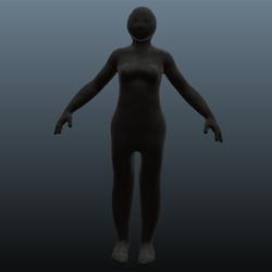 Female avatar overlay