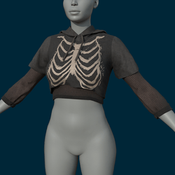 Double Shirt Bones (Clothing) - Female
