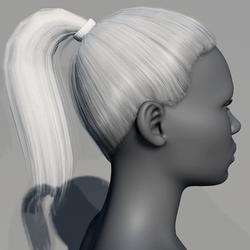 Hair - Pony Tail - Tintable