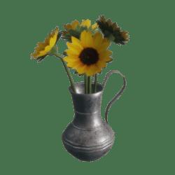 Vase of Sunflowers