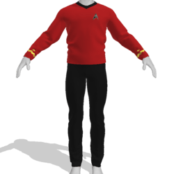 AV2 - Vintage Star Trek Suit Red
