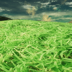 GRASS FIELDS HILLS TERRAIN - BLENDED REALISTIC
