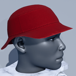 Men Bucket Sun Hat - Red
