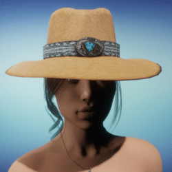 COWGIRL HAT - Tan