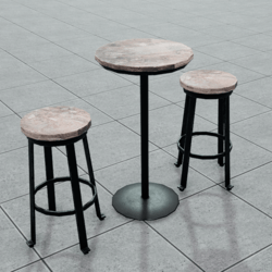 Reclaimed Wood | Bar Table & Stool Set