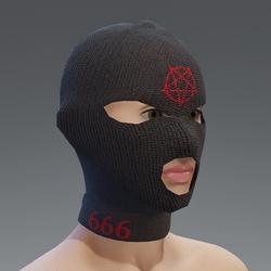Balaclava - pentagram red female