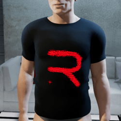 shirt man black let R