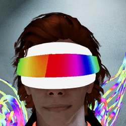 Male go-Glow Animated Futuristic Cyclops Visor
