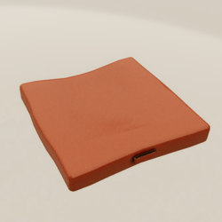 Floor Cushion With Handle Orange