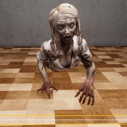 zombie girl Crawl NPC