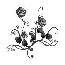 Black Rose Wall Decal