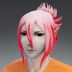 Mukuro hair pink petal
