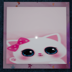 WallArt-Pink Kitty