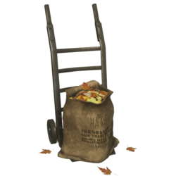 Cart with Leaf Sack
