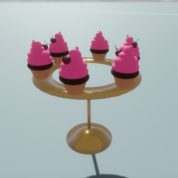Cherry Cupcakes On Cupcake Stand