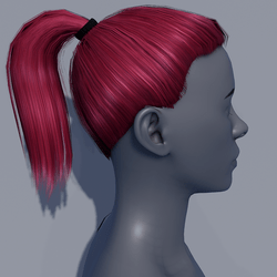 Hair - Pony Tail - Pink