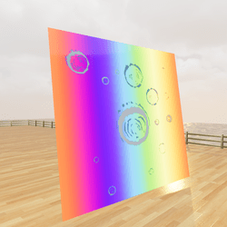 Rainbow Animation Tile (Seamless) with Water Ripple Animation