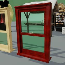 Box Sash Window Furniture No Bars Red Mahogany
