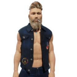 Jeans Vest Peace_DarkBlue