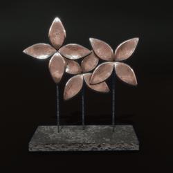 Sea Flower Art -  pale brass