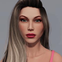 Angela - Sunkiss - Pink Makeup - Green Eyes - Women AV2
