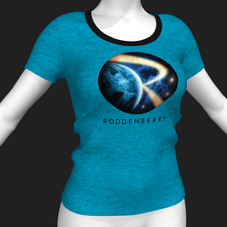 Star Trek Mission Log - Roddenberry T-Shirt - Blue - Female