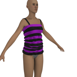 purple and black t-shirt
