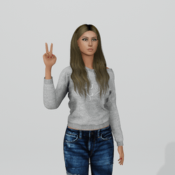 Peace Sign pose Female