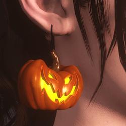 FREE Pumpkin Earings Left & Right (Female)