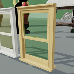Box Sash Window Furniture No Bars Light Oak