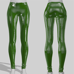 Leggings Maddy Vinyl Green