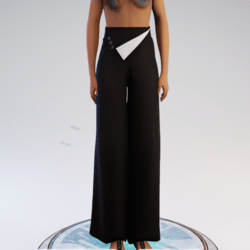 Palazzo Pants - Black and White Polyester
